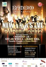 Revelion 2012 în Bamboo Club din Bucureşti
