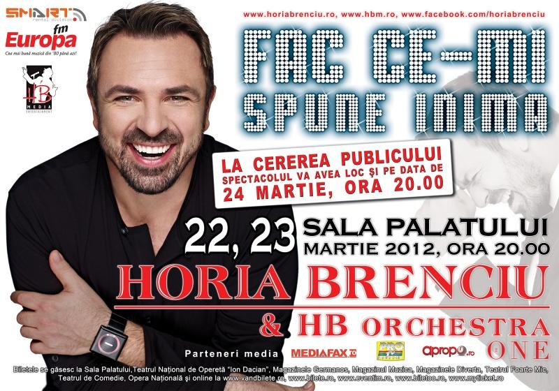 Bilete Horia Brenciu la Sala Palatului din Bucureşti
