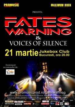 Concert Fates Warning în club Jukebox la Bucureşti