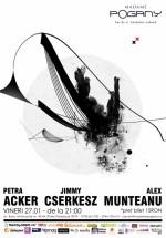 Concert Petra Acker, Jimmy Cserkész şi Alex Munteanu la Madame Pogany din Bucureşti