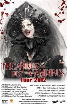 Concert Theatres des Vampires în club Wings din Bucureşti