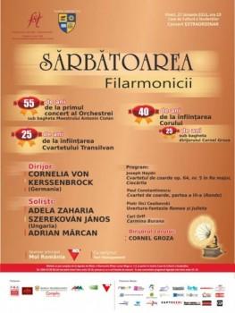 Concert aniversar al Filarmonicii din Cluj-Napoca la Casa de Cultură a Studenţilor