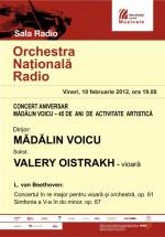 Concert aniversar Mădălin Voicu la Sala Radio din Bucureşti