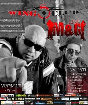 Concert M&G în Club Wings din Bucureşti
