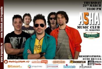 Concert Asha în Music Club din Bucureşti