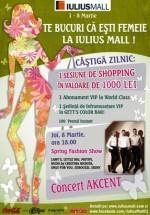 Concert Akcent în Iulius Mall din Cluj-Napoca
