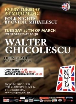 Concert Walter Ghicolescu în Mojo Music Club din Bucureşti