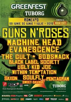 Tuborg GreenFest – Rock the City 2012 la Bucureşti