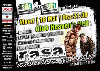 Concert R.A.S.A. în Club Heaven's Hell din Constanţa