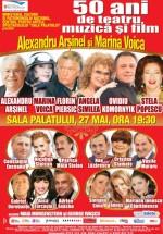Spectacol aniversar Alexandru Arşinel şi Marina Voica la Sala Palatului din Bucureşti