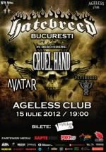 Concert Hatebreed în Ageless Club din Bucureşti – ANULAT