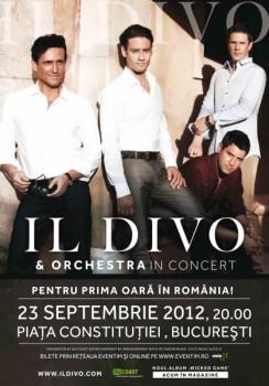Concert Il Divo în Piaţa Constituţiei din Bucureşti