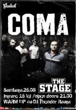 Concert Coma în The Stage Club din Bacău