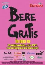 Concert Bere Gratis la Teatrul Naţional din Bucureşti