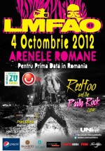 Concert LMFAO – Redfoo and Party Rock Crew la Arenele Romane din Bucureşti