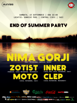 Nima Gorji la Sunrise Beach & Club din Iaşi