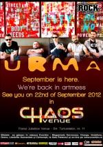 Concert URMA în Chaos Venue din Bucureşti