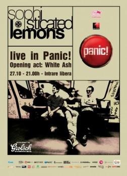 Concert Sophisticated Lemons în Panic! Club din Bucureşti