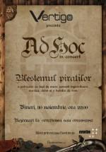 Concert Ad Hoc – Blestemul Piraţilor în Club Vertigo din Bucureşti
