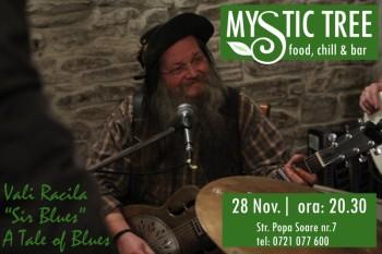 """Concert Vali Racila """"Sir Blue"""" în Mystic Tree din Bucureşti"""