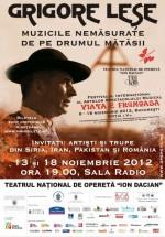 Concerte Grigore Leşe (Viaţa e frumoasă! 2012) la Sala Radio din Bucureşti