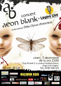Concert Aeon Blank în Legere Live din Bucureşti
