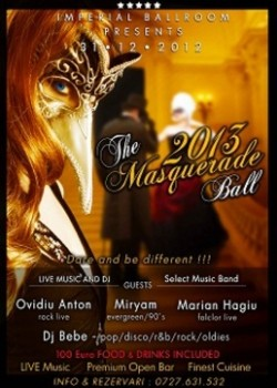 The Masquerade Ball 2013 în Imperial Ballroom din Bucureşti