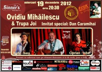 Concert Ovidiu Mihăilescu & Trupa Joi în Sinner's Club din Bucureşti