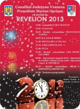Revelion 2013 în Piaţa Unirii din Focşani