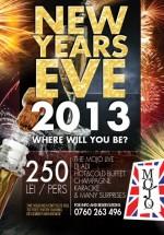 New Year's Eve 2013 în Mojo Music Club din Bucureşti