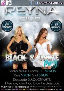 Black & White Party în Reyna Club din Bucureşti