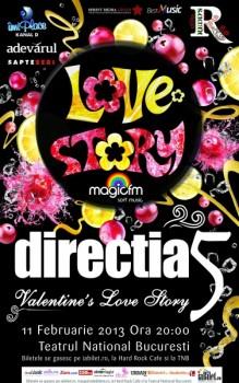 Concert Direcţia 5 de Valentine's Day la Teatrul Naţional din Bucureşti