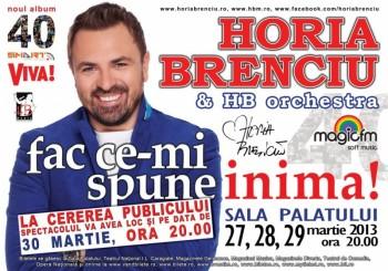 Concert Horia Brenciu la Sala Palatului din Bucureşti