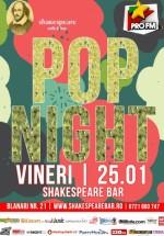 Pop Night în Shakespeare Bar din Bucureşti