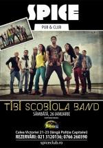 Concert Tibi Scobiola Band în Spice Club din Bucureşti