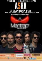 Concert ASHA în Mantrap Pub din Bucureşti