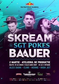 Skream, SGT Pokes şi Baauer în Atelierul de Producţie din Bucureşti