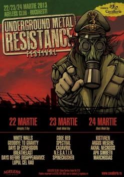 Underground Metal Resistance Festival în Ageless Club din Bucureşti