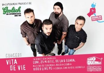 Concert Viţa de Vie la GuerriLIVE Acoustic Session în Energiea din Bucureşti