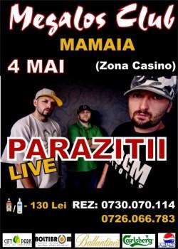 Concert LIVE Paraziţii în Club Megalos din Mamaia