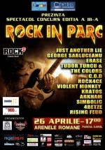 Spectacol – concurs Rock in Parc III la Arenele Romane din Bucureşti