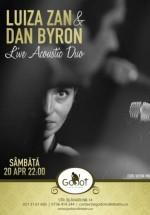 Concert acustic Luiza Zan şi Dan Byron în Godot Cafe-Teatru din Bucureşti