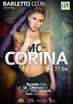Concert Corina în Barletto Club din Bucureşti