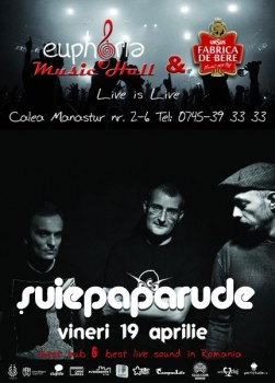 Concert Şuie Pararude în Euphoria Music Hall din Cluj-Napoca