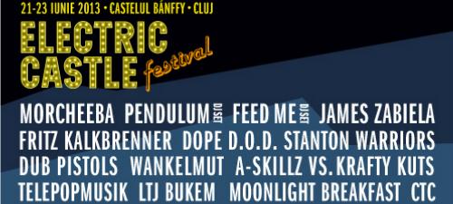 Programul Electric Castle Festival 2013. S-au pus în vânzare biletele pe zile