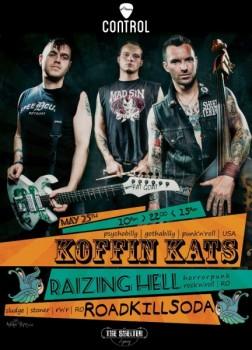 Concert Koffin Kats în Control Club din Bucureşti