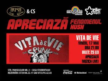 Concert Viţa de Vie în Club Hush din Piteşti