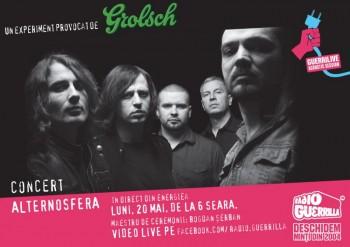 Concert Alternosfera la GuerriLIVE Acoustic Session în Energiea din Bucureşti