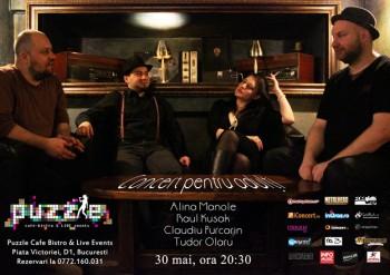 Concert pentru adulţi – Alina Manole în Club Puzzle din Bucureşti
