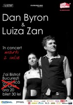 Concert acustic Luiza Zan & Dan Byron în J'ai Bistrot din Bucureşti